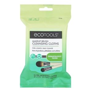 2/$15 EcoTools Makeup Brush Cleansing Cloths 25 Ct
